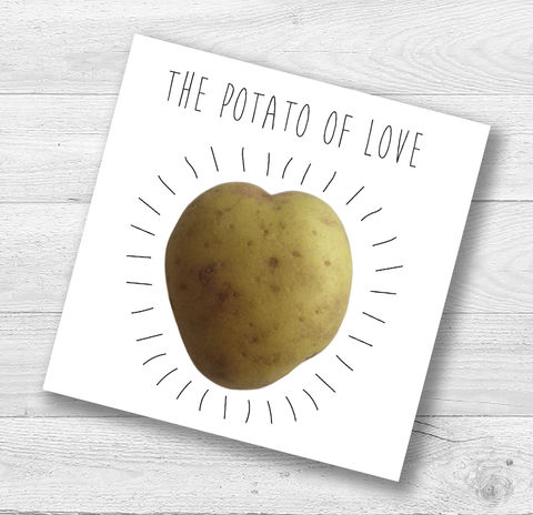 The,Potato,Of,Love,Card,Paper_Goods,Cards,Blank,Valentine,Funny,Humorous, Anniversary, Engagement,Romantic,Heart