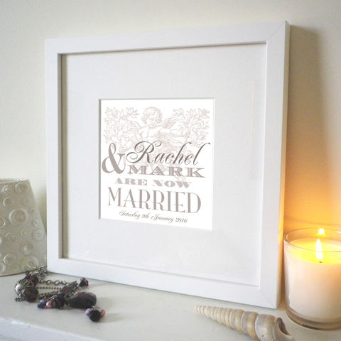 Personalised,Wedding,Names,Print,Wedding print, vintage type, Wedding Couple gift