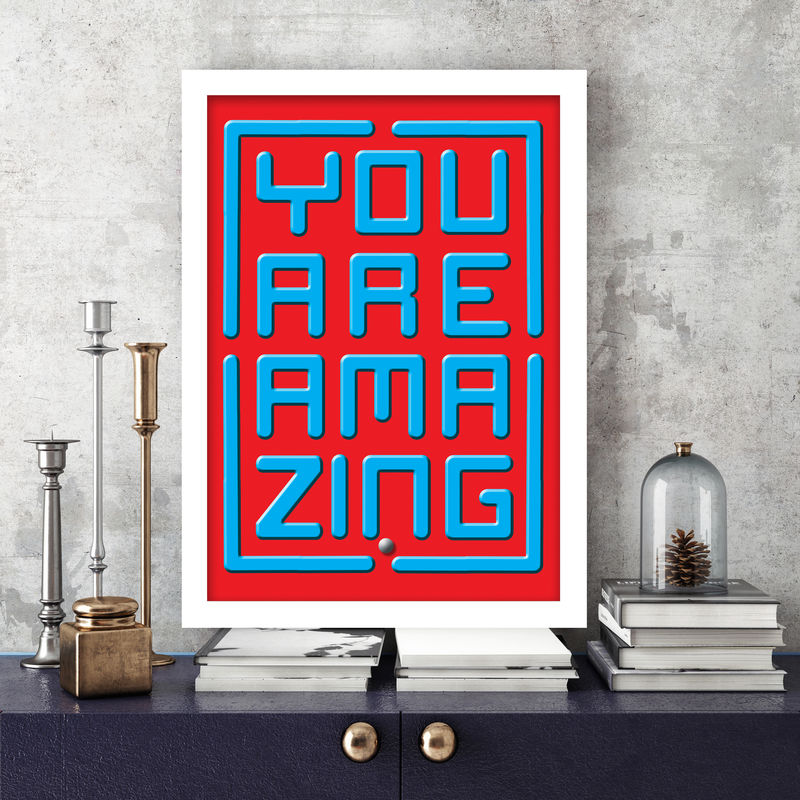"Ball Maze ""YOU ARE AMAZING"" Print - product images  of"