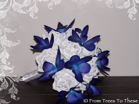 Kimberly,Bouquet,Set,Weddings,white_blue_bouquet,blue_dendrobium,dendrobium_orchid,orchid_bouquet,wedding_bouquet,rose_orchid_bouquet,paper_bouquet,paper_flower,paper_flowers,blue_orchids,blue_wedding_orchids,HomeFront_Team,handmade_bouquet,paper,satin ribbon,floral w