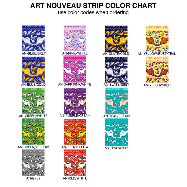 COTTON POPLIN Greyhound Collar Fabric - 15 strips per panel - product images  of