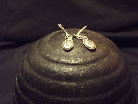 Napier,Oval,Drop,Earrings,Napier Jewelry, Earrings, dangling earrings, silver drop earrings, leverback earrings, vintage silver earrings