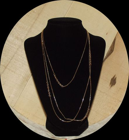 Monet,Two,Chain,Necklace, gold tone, rope chain, wheat chain, necklace, chain necklace
