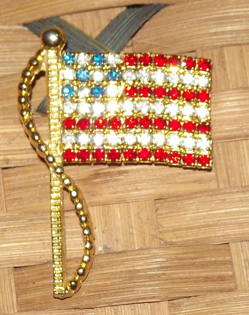 Rafaelian Flag Brooch Faith S Serendipity Vintage Jewelry