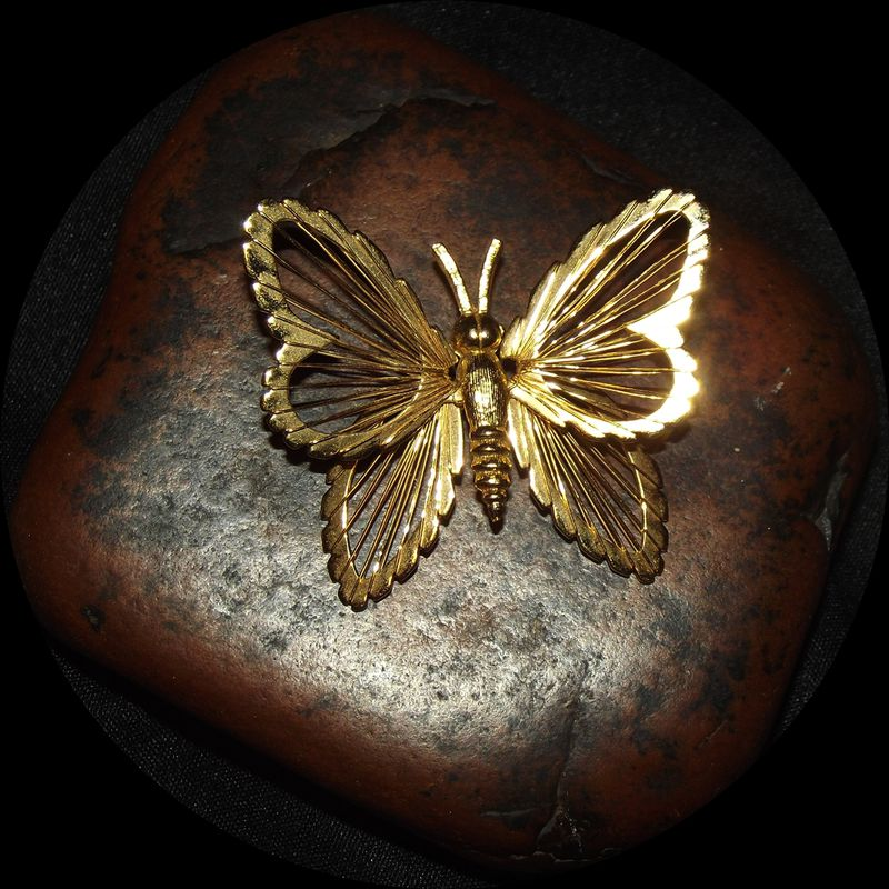 Monet VTG Butterfly Brooch - product images  of
