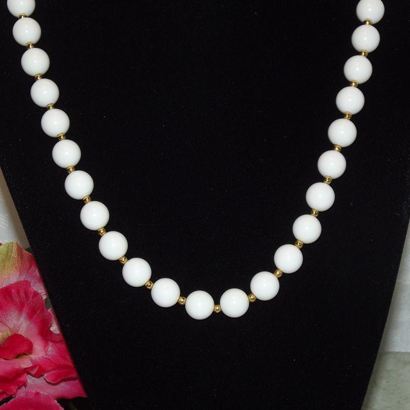 monet white bead necklace faith s serendipity vintage