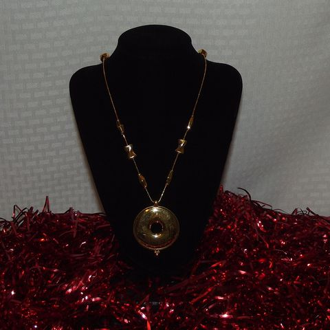 Monet,Pendant,Necklace, Long necklace, pendant, disc pendant, beads, vintage
