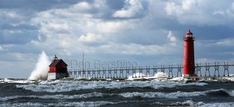 Grand,Haven,Michigan,Lighthouse,Wave,Crashing,art,photography,landscape,lighthouse,grand_haven_michigan,waves,lake_michigan,scenic,print,picture,metallic,water,storm,breakwall,metallic_paper,photograph,grand_haven,michigan