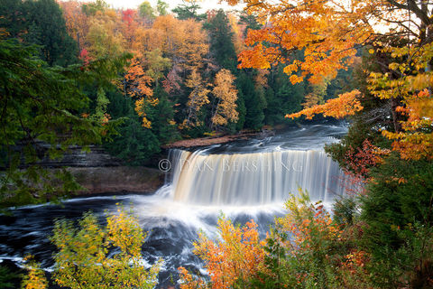 Upper,Tahquamenon,Falls,Autumn,in,Michigan,photograph,Art,Photography,Landscape,upper_tahquamenon,waterfall,michigan,upper_peninsula,paradise_michigan,scenic,upper_falls,tahquamenon_falls,print,Water,Photo,Upper_michigan,metallic,photo,Metallic_paper