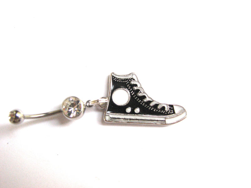 High Top Tennis Shoe Belly Ring - product images  of