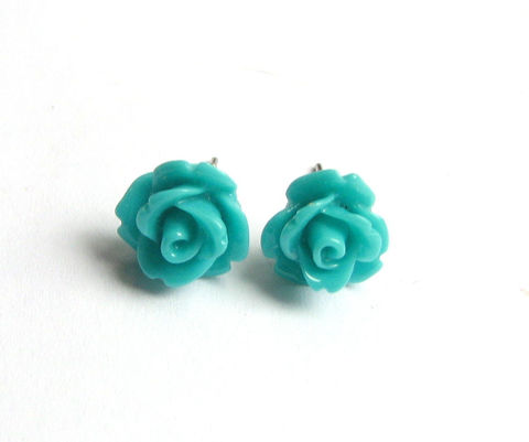 Teal,Blue,Rose,Stud,Earrings,,Cute,Flower,Jewelry.jpg,teal blue rose, teal earrings, teal flower earrings, teal rose earrings, rose stud earrings, cute flower jewelry spring jewelry, spring earrings, teal spring earrings, girls jewelry, womens earrings,
