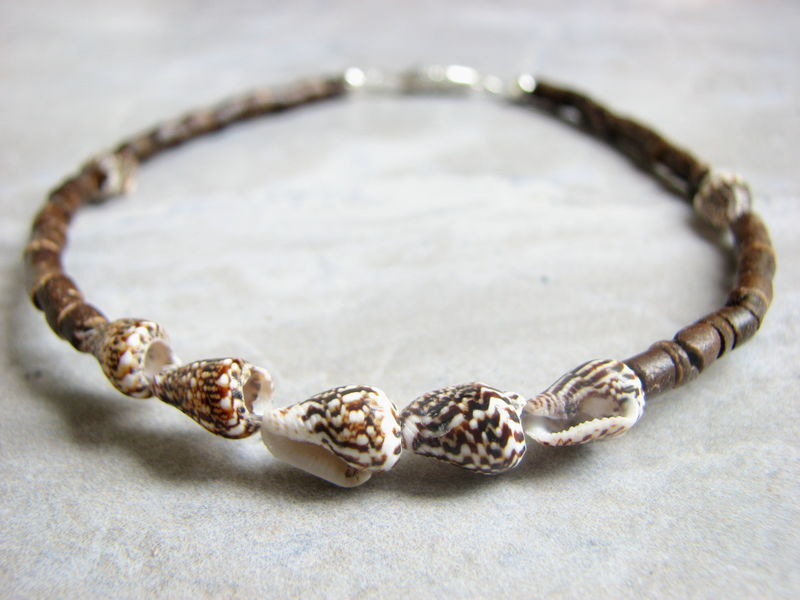 Sea Shell And Coconut Ankle Bracelet Tropical Anklet Bits Off The