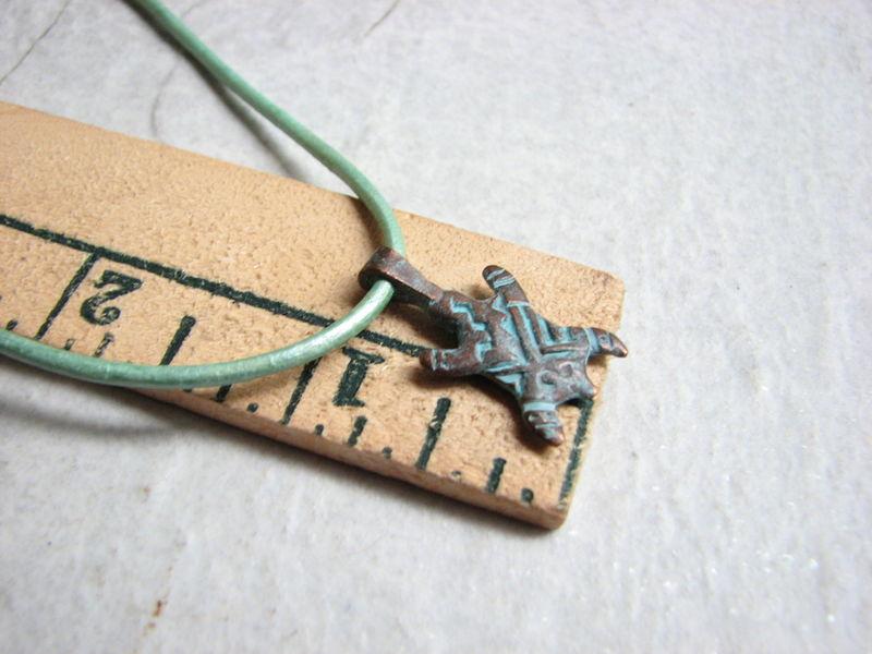 Turtle charm leather choker