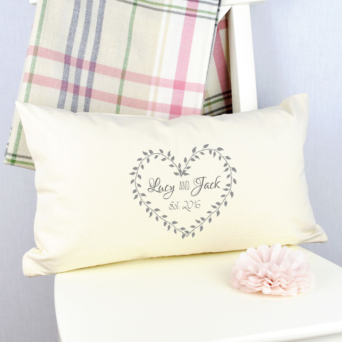 Personalised Anniversary Cushion - product image