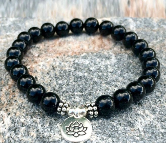bead beaded bracelet jewelry black lazaro onyx crown silver skull mens soho