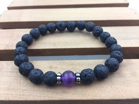 Lava,with,Amethyst,Bracelet,,strength,bracelet,,energy,everyday,japa,mala,,Mala,bracelet,Lava Bracelet, energy bracelet, everyday bracelet, japa mala, Mala bracelet, prayer beads, 108 beads,