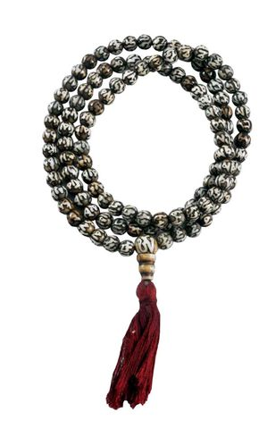 Conch Shell Japa Mala 108 beads Carved mantra on beads - product images  of
