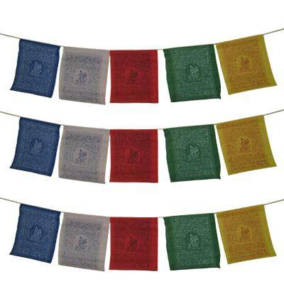Large Tibetan Prayer Flags 3 Strings Buddha Store