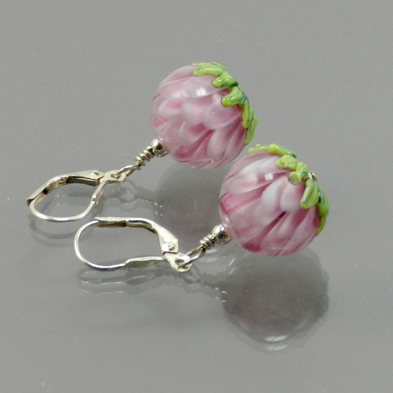Petal Bead Earrings in Pink - Made to Order - product images  of