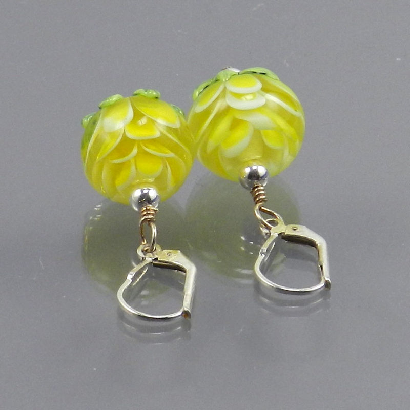 Petal Bead Earrings in Yellow - Made to Order - product images  of