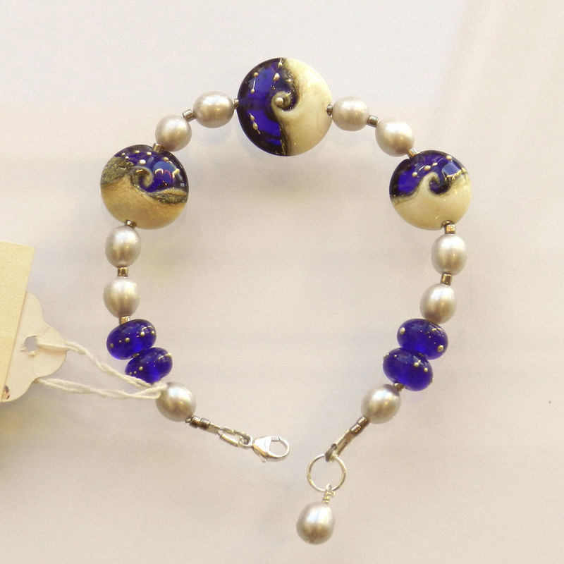 Ocean Beads Bracelet with Fine Silver - product images  of
