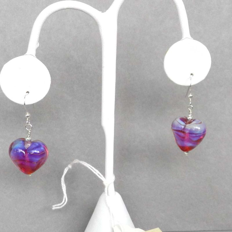 Pink Heart Earrings - 2 - product images  of