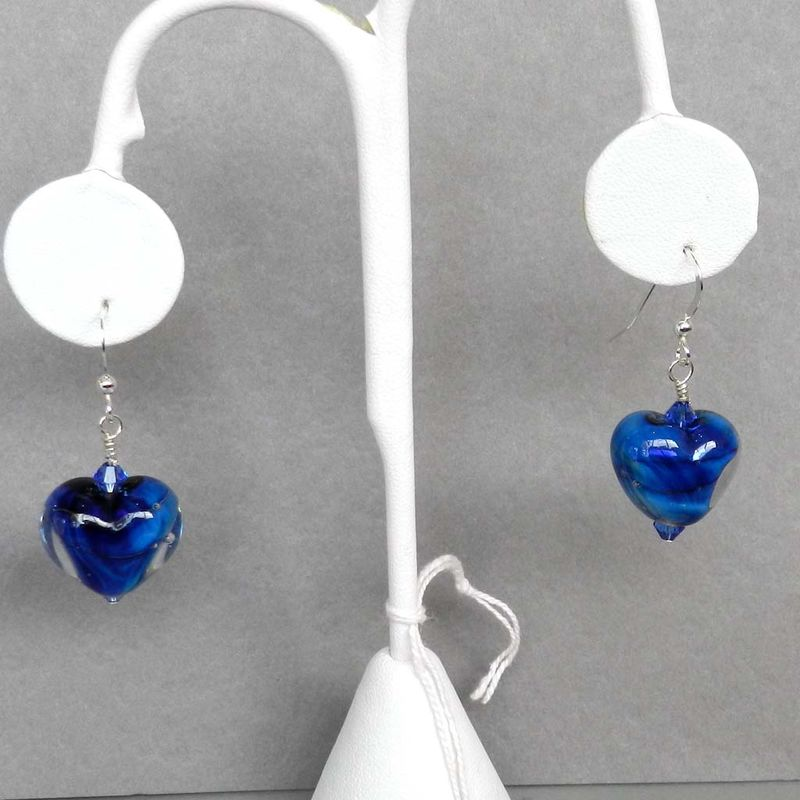 Blue Heart Earrings - product images  of