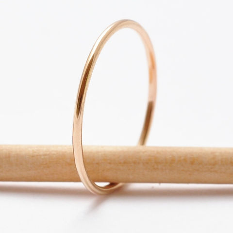 Yellow,Gold,Filled,Ring,Minimalist Plain Simple Thin Skinny Simple Everyday 14K Yellow Gold Filled Small Stacking Ring