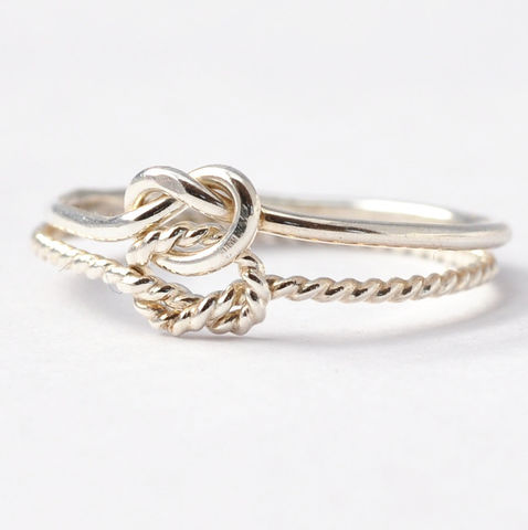 Double,Love,Knot,Ring,True Love Waits Tie the Knot Forget Me Knot Double Love Knot Infinity Purity Promise Celtic Sterling Silver Ring