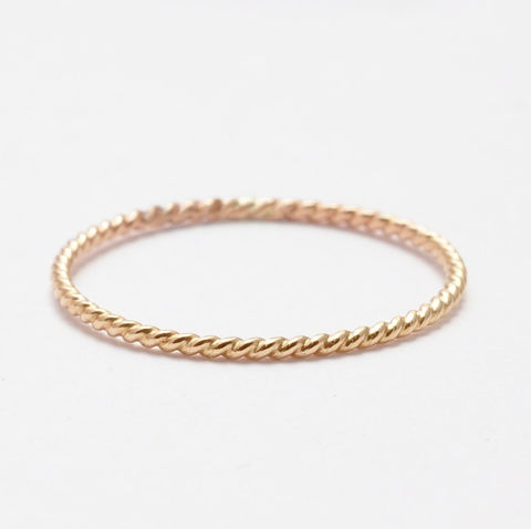 Yellow Gold Filled Rope Ring - product images  of
