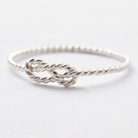 Braided,Infinity,Ring,Twisted Rope Infinity Eternity Knot Sterling Silver Best Friend Jewelry Ring Gift Ideas