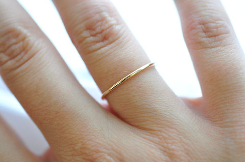 14K Thin Yellow Gold Band - product images  of