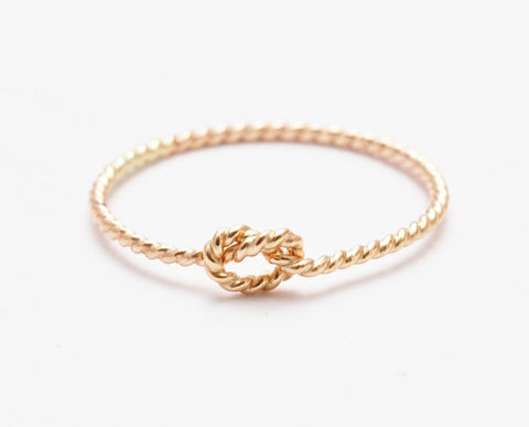 Braided Gold Knot Ring - product images  of