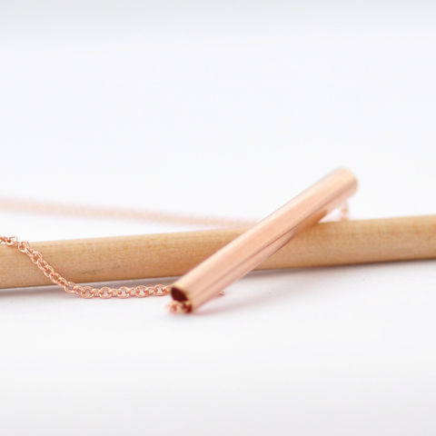 Simple Tube Necklace - product images  of