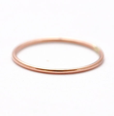 14K,Simple,Rose,Gold,Ring,Affordable Inexpensive Thin Delicate Skinny Simple Solid 14K Rose Gold Slim Spacer Wedding Ring Band Jewelry for Women