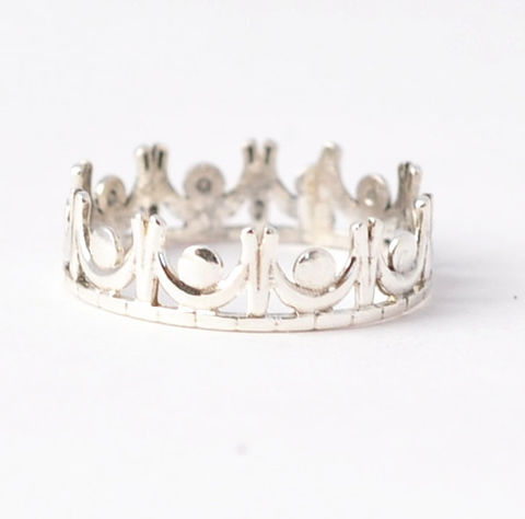 Tiara,Ring,Sweet 16 Quinceanera 925 Sterling Silver Princess Tiara Crown Ring Birthday Gifts for Teen Girls