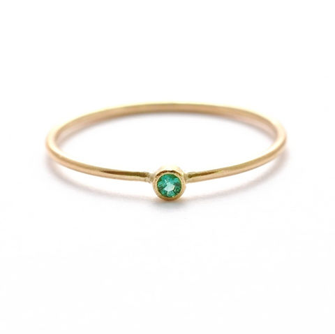 14K,Gold,Emerald,Ring,Skinny Slim Thin Dainty Tiny Natural Genuin Real Green Emerald and Solid 14K Gold Non Diamond Engagement Wedding Ring Jewelry