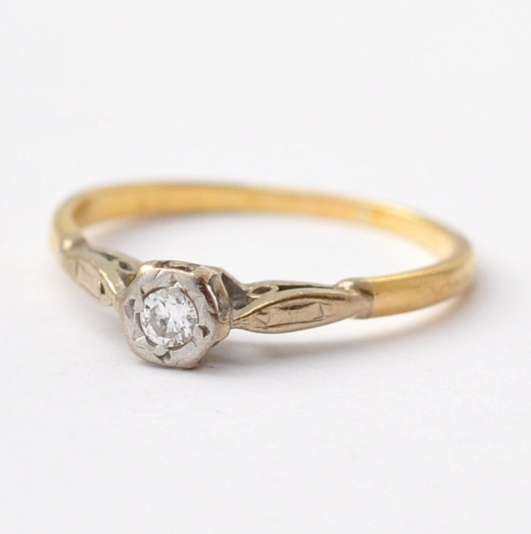 white sapphire diamond rings il engagement zoom yellow gold fullxfull listing kmgc antique ring