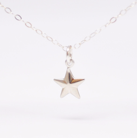 Minimalist,Jewelry:,Silver,Star,Necklace,small simple dainty minimalist boho sterling silver star pendant charm necklace jewelry birthday gift ideas for friends teenage girls
