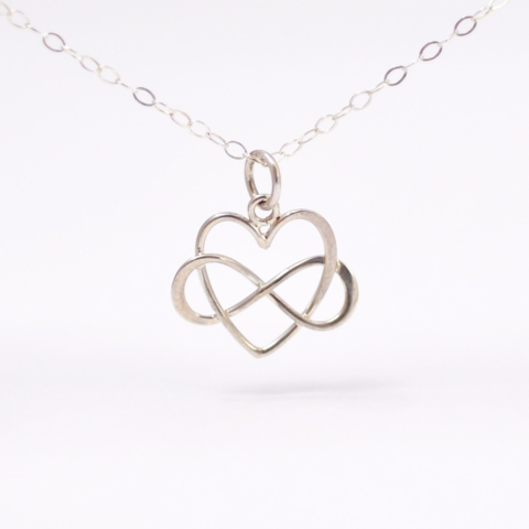 Promise,Jewelry:,Infinity,Heart,Necklace,simple dainty sterling silver infinite love infinity heart promise pendant necklace anniversary gifts for girlfriend wife her under 50