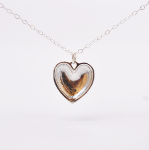 Sterling Silver Fancy Heart Charm Necklace - product images  of