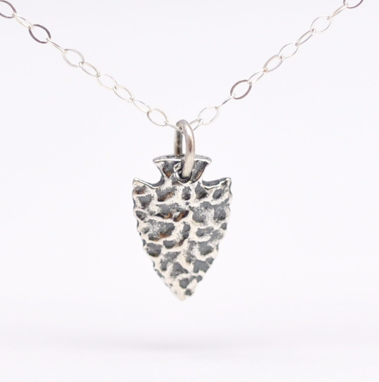 Silver Arrowhead Necklace: Boho Jewelry - product images  of