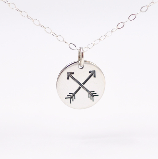 Friendship Jewelry: Crossed Arrows Charm Necklace - product images  of