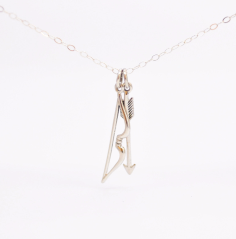 Bow and Arrow Charm Necklace - product images  of