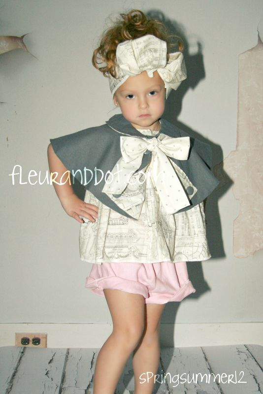 The Ruffle Top Shorts in Bubble Gum Linen from the Fleur + Dot SpringSummer12 Collection - product images  of