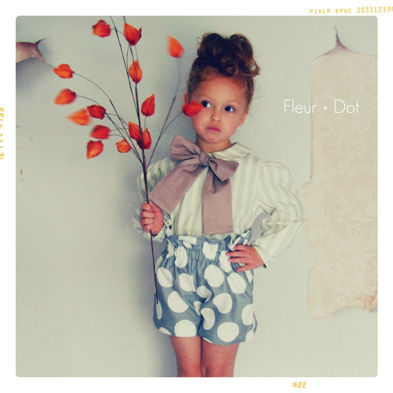 The Stripe and Bow Peter Pan Collar Girls Blouse from the Fleur + Dot Autumn Winter 12 Collection - product images  of