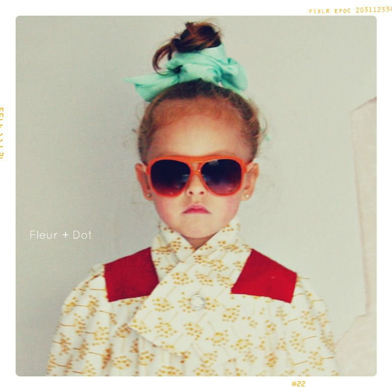 The Field Flower Collared Girls Blouse from the Fleur + Dot Autumn Winter 12 Collection - product images  of