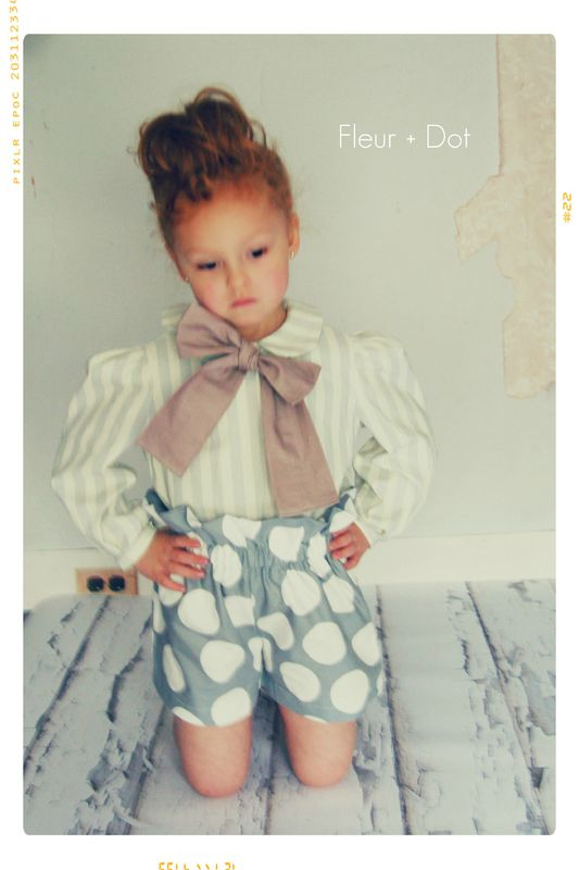 The Polka Dotted Ruffle Top High Waist Shorts from the Fleur + Dot Autumn Winter 12 Collection - product images  of