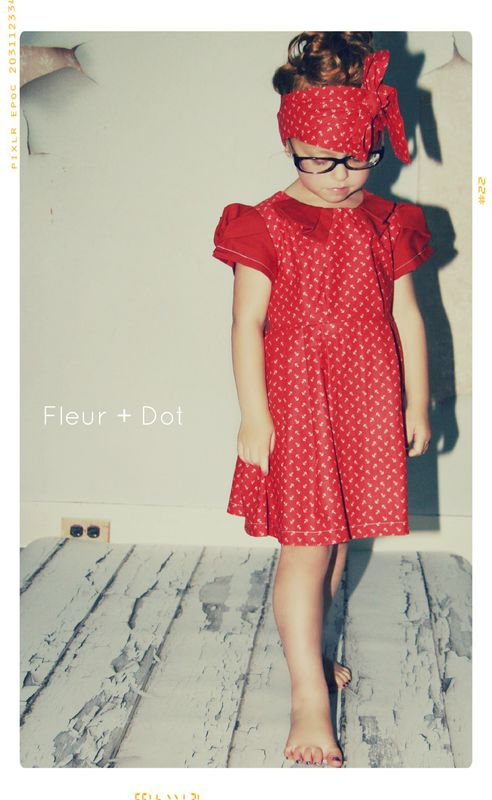 The Red Sailor Collared Girls Dress from Fleur + Dot Autumn Winter 12 Collection - product images  of