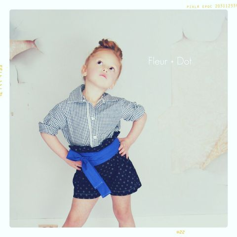 The,Black,Dotted,Ruffle,Top,High,Waist,Shorts,from,the,Fleur,+,Dot,Autumn,Winter,12,Collection,Girl, shorts, ruffle top, high waist, polka dot, grey, gold, black, white, blue, toddler, baby, dots, small, medium, large, 18 months, 2T, 3T, 4T, 5, 6, 7, 8, fleur and dot, fleur + dot, fleuranddot, winter, autumnwinter12